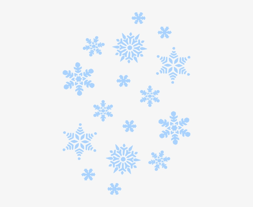 Snowflakes Falling Png - Blue Snowflakes Falling Png, transparent png #908121