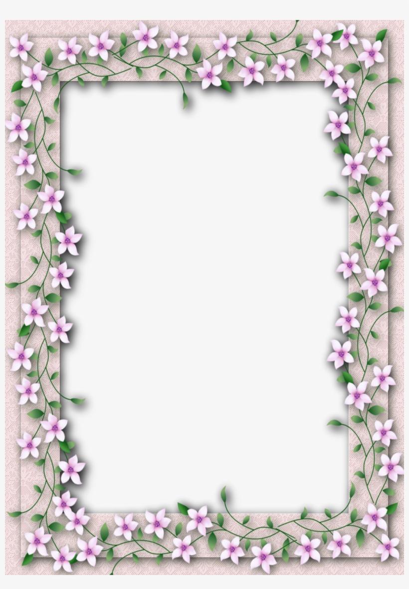 Delicate Png Transparent Flower Frame - Transparent Flower Photo Frame, transparent png #908230