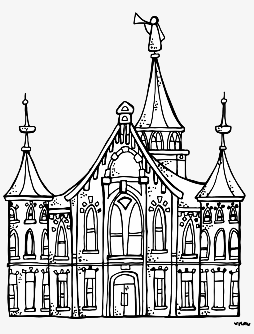 Illustration By Vector Tradition Lds Temple Clipart - Provo City Center Temple Png, transparent png #909353