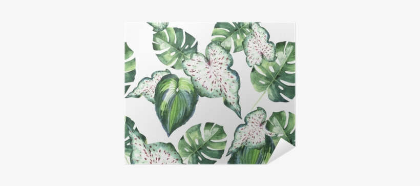 Tropical Hawaii Leaves Palm Tree Pattern In A Watercolor - Parklon Play Mat Botanical Baby Playmat Living Room, transparent png #909806