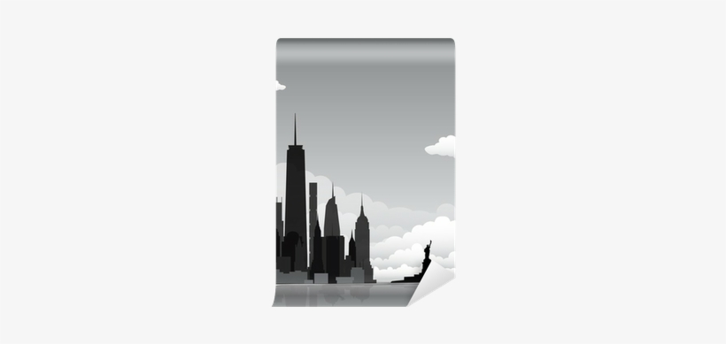 New York Skyline City Silhouette Wall Mural • Pixers® - New York City, transparent png #909838
