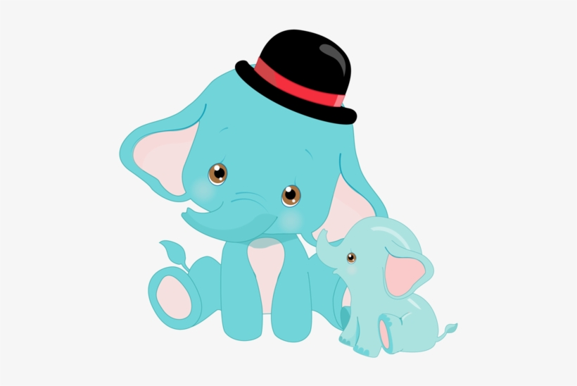 Sublimation Transfer Animal Baby Blue Elephant With - Blue Baby Animals, transparent png #9003038
