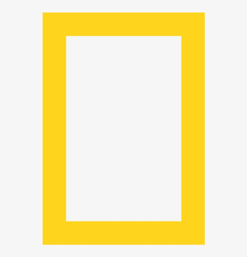 National Geographic Web Maps - National Geographic Yellow Frame, transparent png #9004099