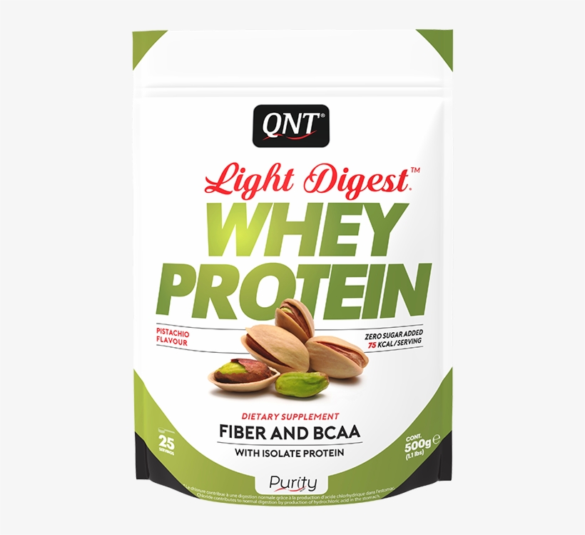 Qnt Direct Whey Protein Light Digest Pistachio 500 - Whey Protein Pistachio, transparent png #9004553