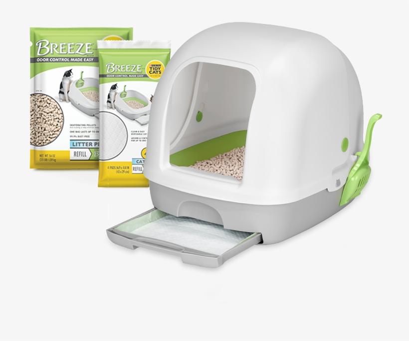 Breeze Hooded Litter Box System - Tidy Cat Breeze Hooded Litter Box, transparent png #9005104
