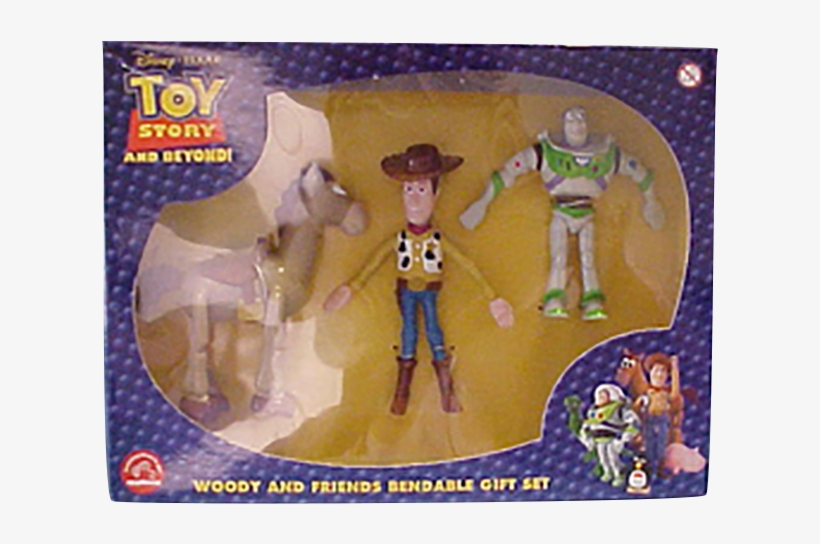 Disney's Toy Story Woody, Buzz Lightyear And Bullseye - Toy Story Toys Woody Bullseye, transparent png #9007317
