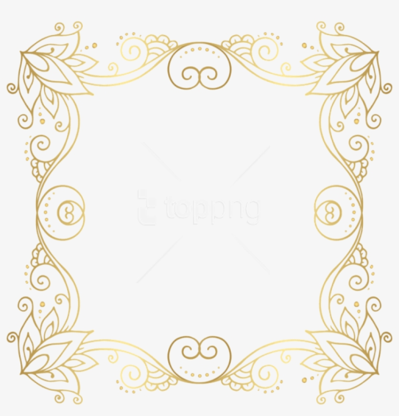 Download Gold Border Frame Png Photo For Designing - Border Line Frame Gold, transparent png #9007656