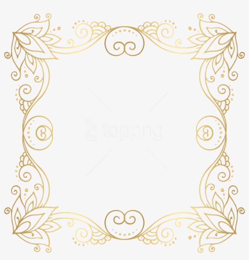 Download Gold Border Frame Png Photo For Designing - Border Line Frame Gold, transparent png #9007656