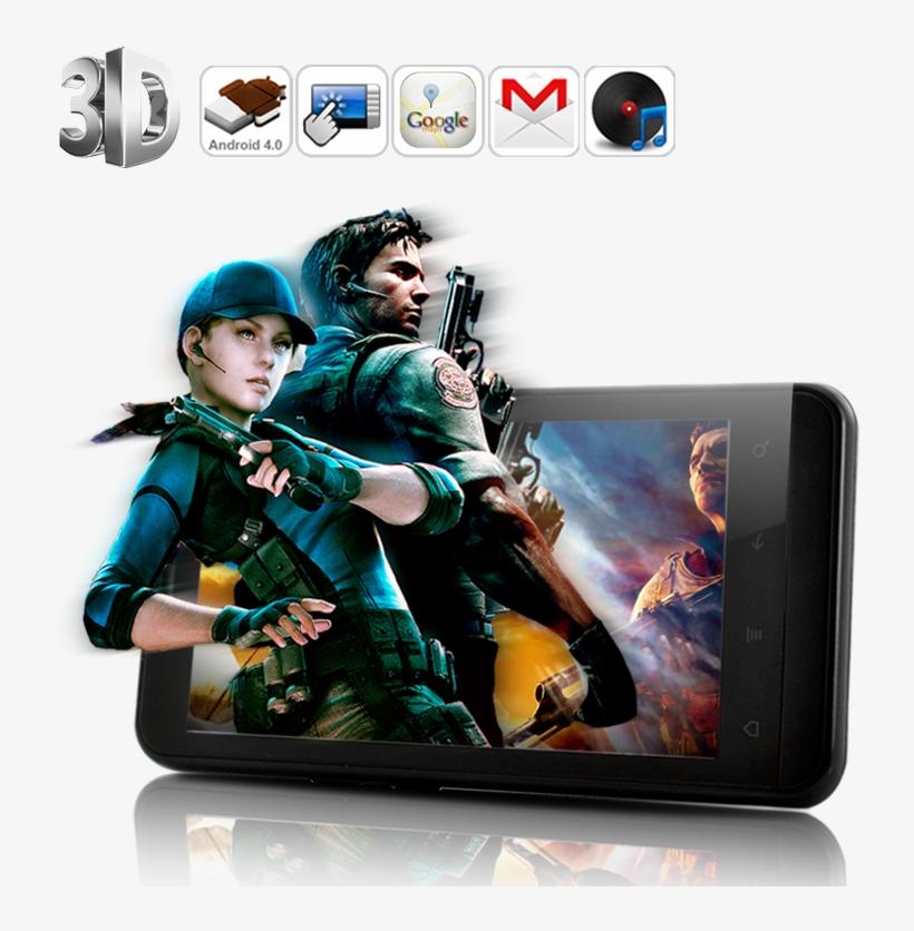 0 3d Dispaly Phone - Mobile Phone 3d Screen, transparent png #9015087