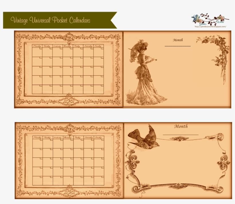 Displaying Vintage Universal Pocket Calendars-glenda's - Vintage Universal Christmas Calendar, transparent png #9017472