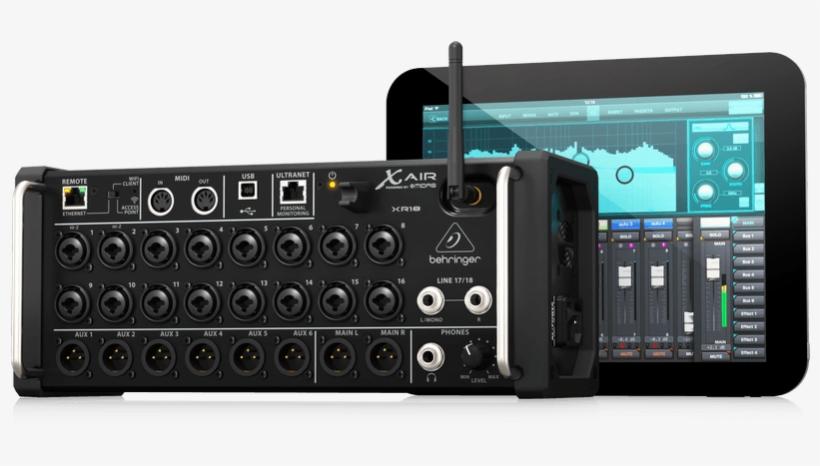 Behringer X Air Xr18 18 Channel, 12 Bus Digital Mixer - Mixer Digital Behringer Xr18, transparent png #9020732