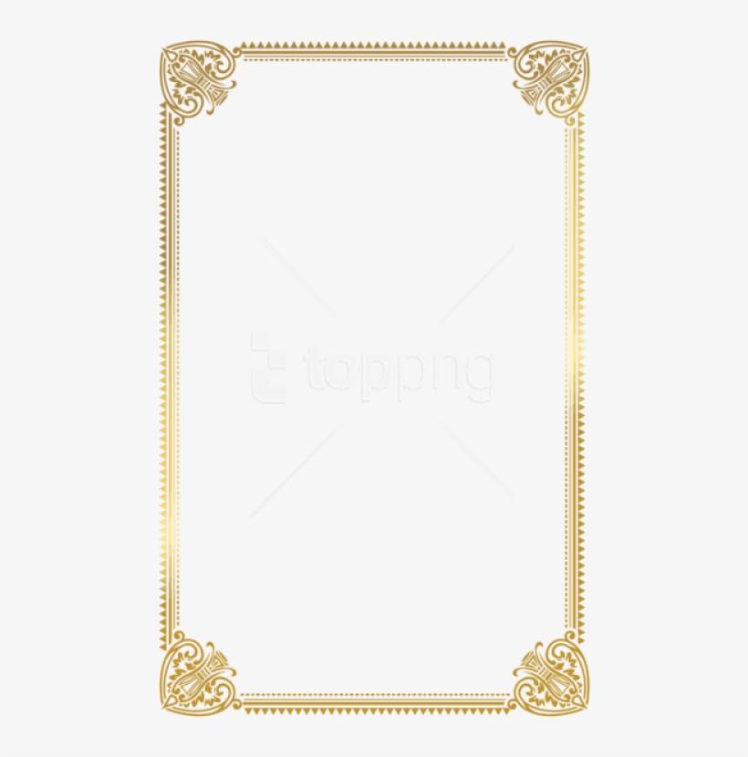 Free Png Download Border Frame Gold Deco Clipart Png - Certificate Frame Design A4, transparent png #9022623
