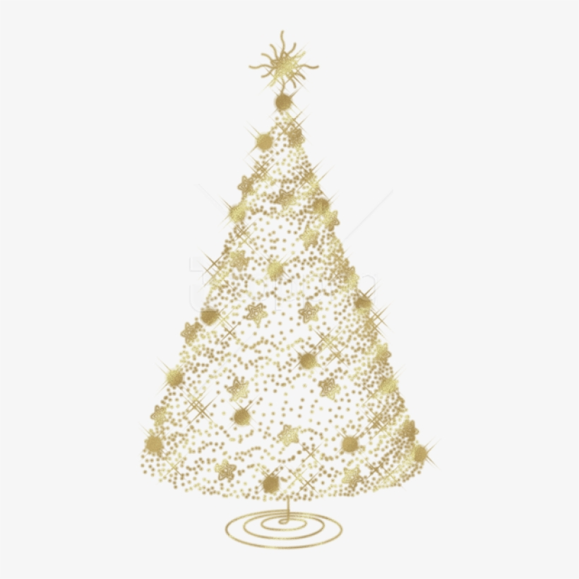 Free Png Transparent Christmas Gold Tree Png - Transparent Christmas Tree Png, transparent png #9025700
