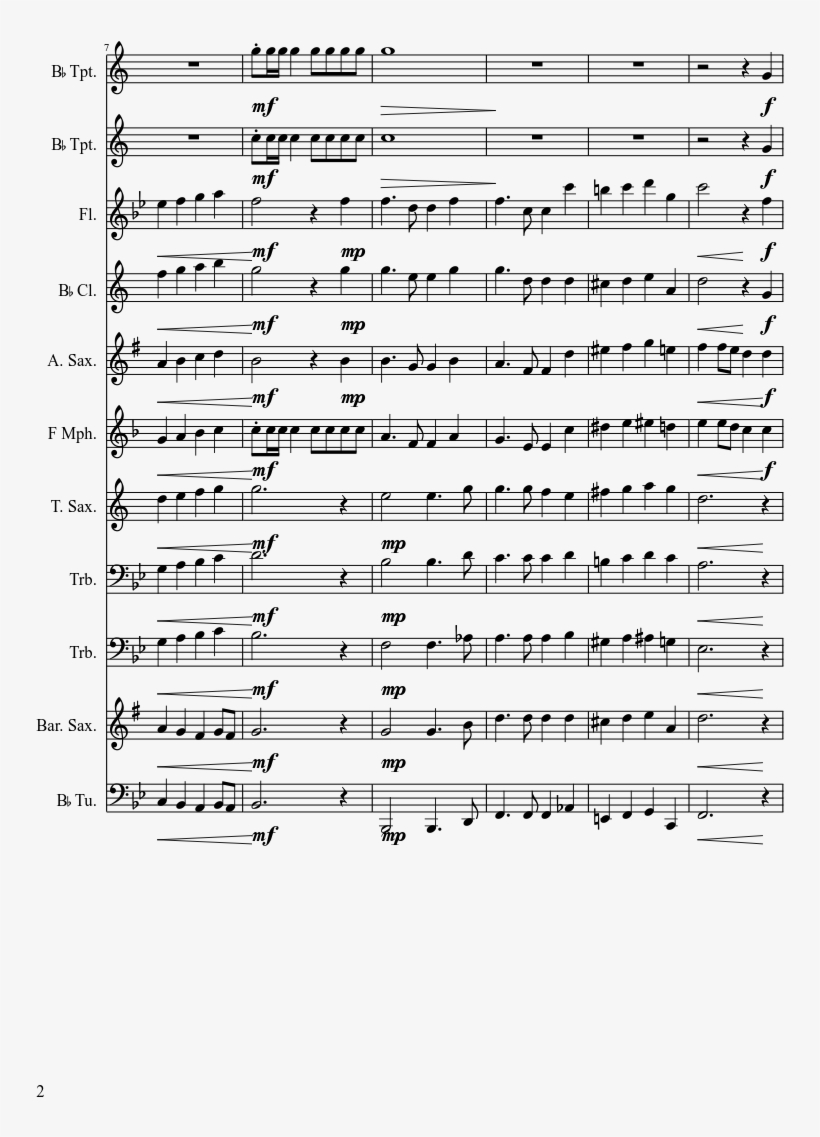 'merica, The Beautiful Sheet Music Composed By Arr - Kim Possible Piano Sheet Music, transparent png #9029126