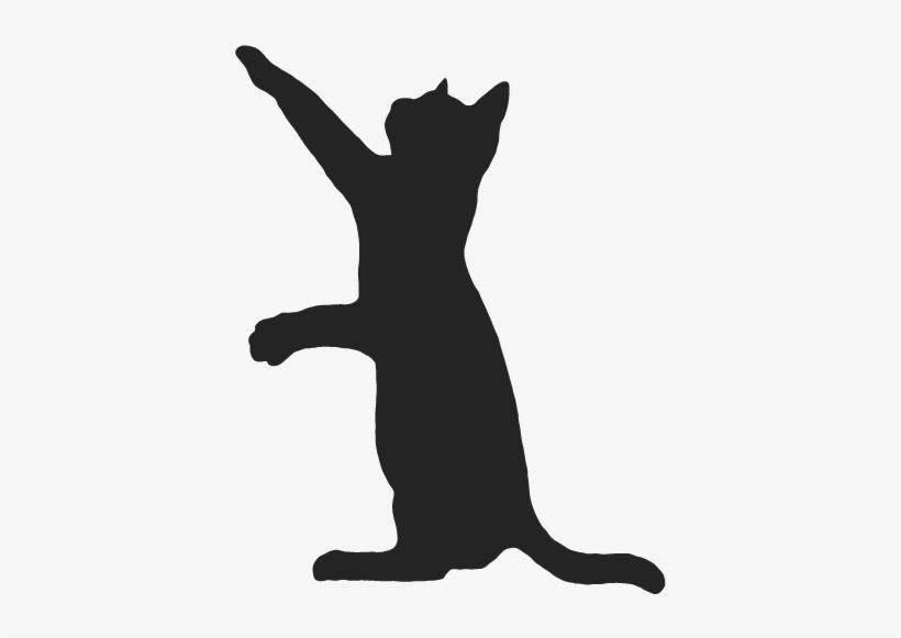 Cat Silhouette Wall Decal Design - Cat Silhouette Black Cat Png, transparent png #9035146