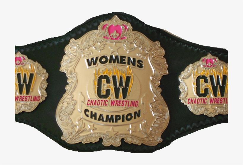 Belts Cw Womens Championship01 - Chaotic Wrestling Women's Championship, transparent png #9039758
