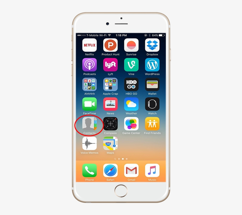 Iphone I Phone Contact App - Best Iphone Home Screen Layout 2018, transparent png #9043260