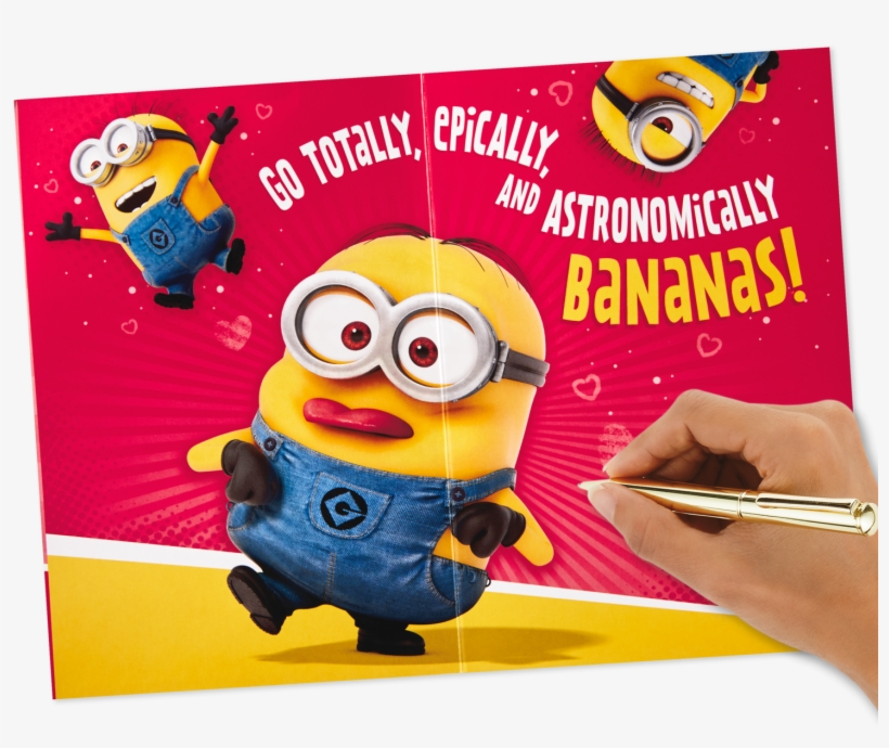 Despicable Me Minions Valentine's Day Card With Sound - I M Weird But You Love Me, transparent png #9043312