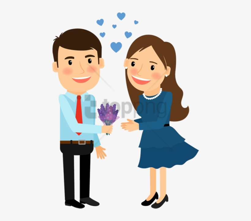 Free Png Cartoon Image Of Man And Woman Png Image With - Man And Woman Cartoon, transparent png #9043870