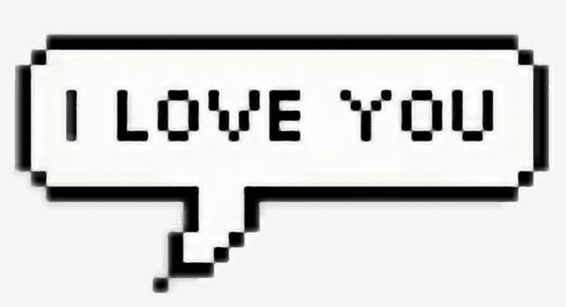 I Like You Text Messages Tumblr - Love You Speech Bubble Png, transparent png #9050448