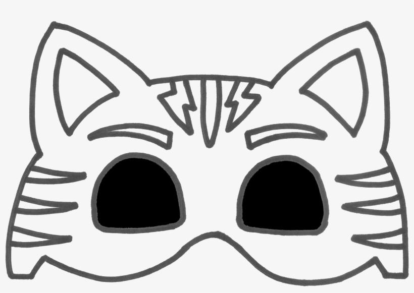 Se Afișează Documentul Catboy - Pj Mask Mask Template, transparent png #9052210