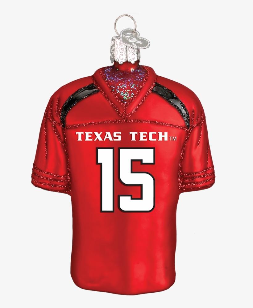 Old World Christmas Texas Tech Football Jersey Glass - Sports Jersey, transparent png #9052550