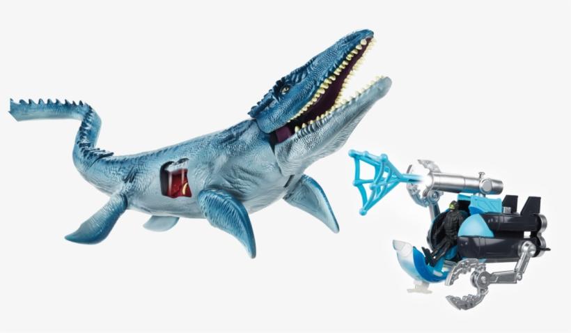 Jurassic World Vehicle Battle Packs Submarine - Mosasaurus Jurassic World Hasbro, transparent png #9055343