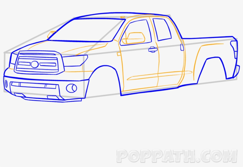 Pick Truck Drawing At Getdrawings Com Free - Pickup Truck, transparent png #9059459
