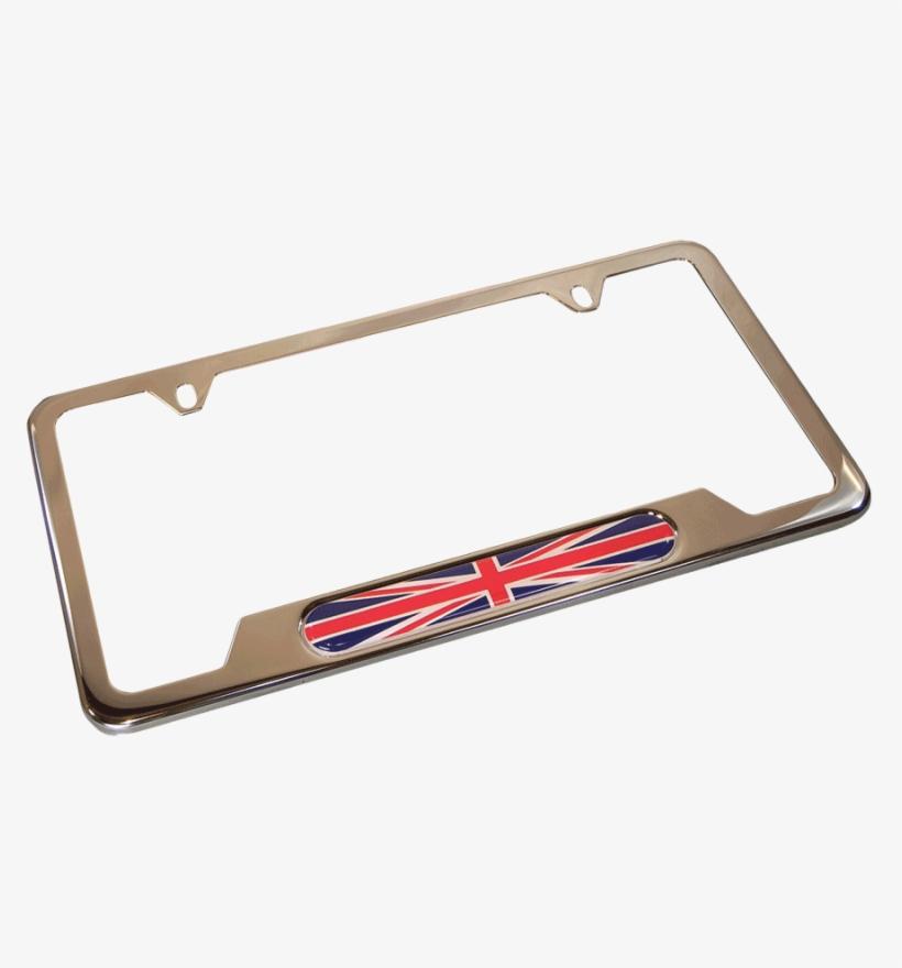 Union Jack License Plate Frame - Bicycle Frame, transparent png #9060227