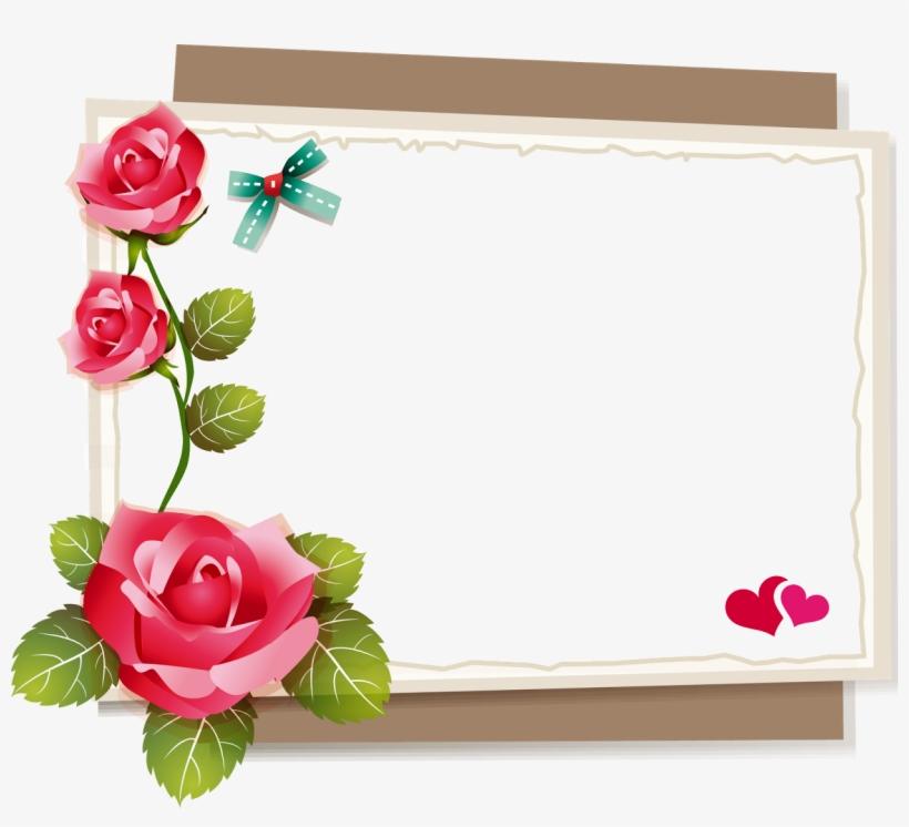 Blindada Por Deus - Moldura Para Foto Floral Png, transparent png #9062557