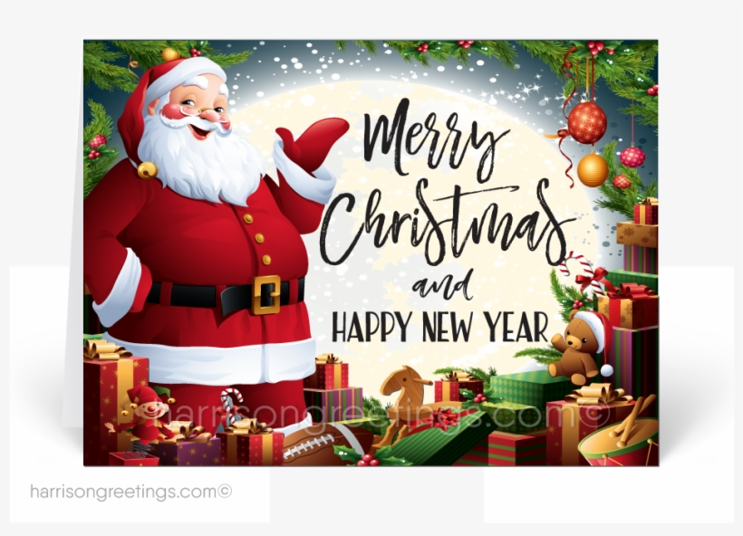 Traditional Santa Claus Merry Christmas Cards - Merry Christmas Traditional Santa, transparent png #9065146
