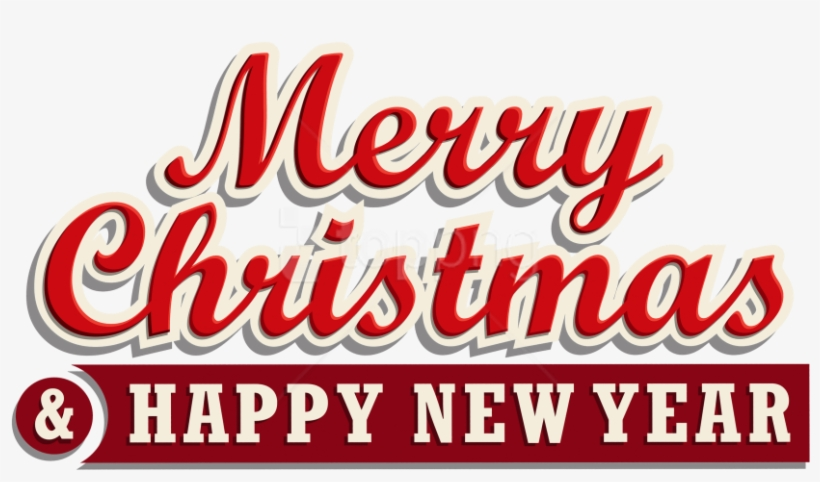 Free Png Download Merry Christmas And Happy New Year - Tulisan Merry Christmas And Happy New Year 2018, transparent png #9066272