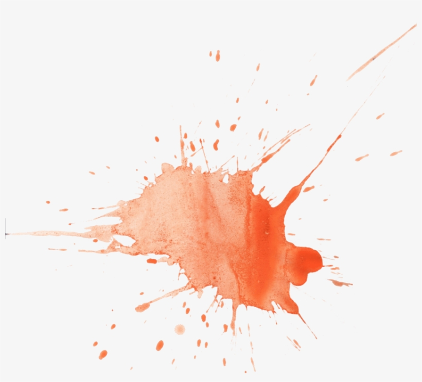 Free Png Watercolor Splashes Png Png Image With Transparent - Splatter Watercolour Orange, transparent png #9071317