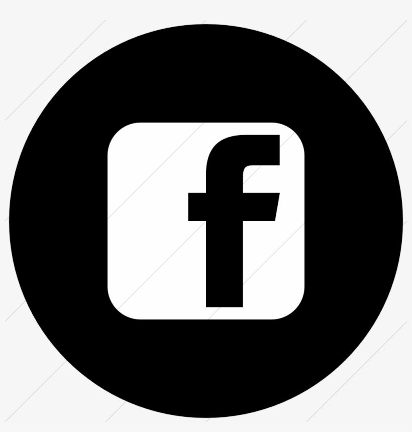Facebook Logo Black And White Circle Linkedin Logo Black