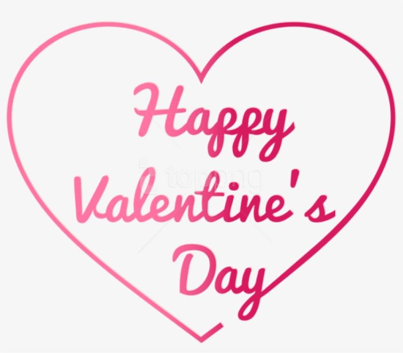 Free Png Download Transparent Happy Valentine's Day - Happy Valentine Day Png, transparent png #9086314