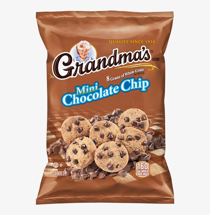 Grandma's® Whole Grain Rich Mini Chocolate Chip Cookies - Chocolate Chip Cookies Bag, transparent png #9086819