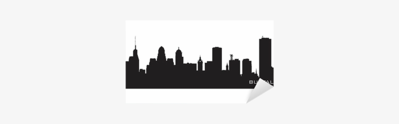 Detailed City Silhouette Sticker • Pixers® • We Live - Skyline Buffalo New York, transparent png #910009