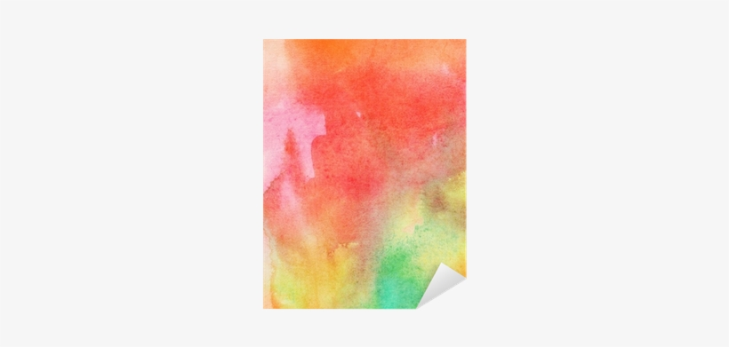 Abstract Colorful Watercolor Painted Background Sticker - Painting, transparent png #910279