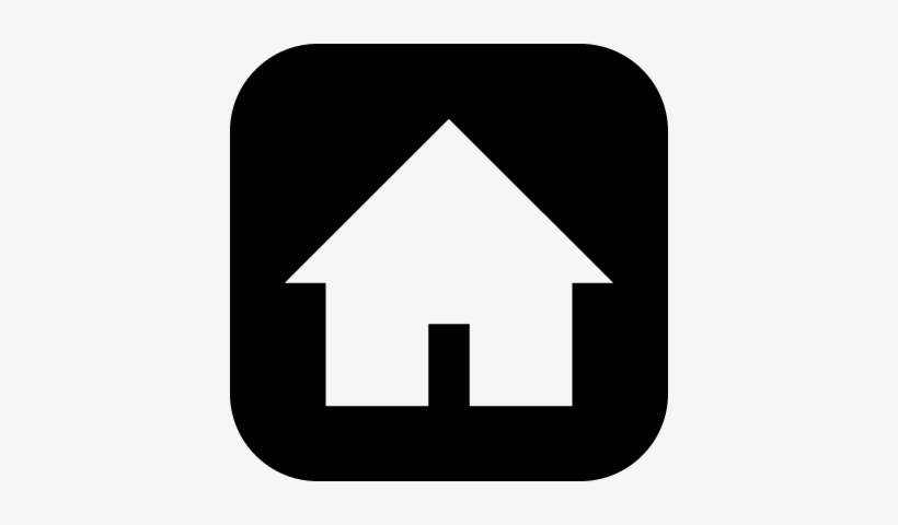Home Silhouette On Black Square Background Vector Work At Home Sykes Free Transparent Png Download Pngkey
