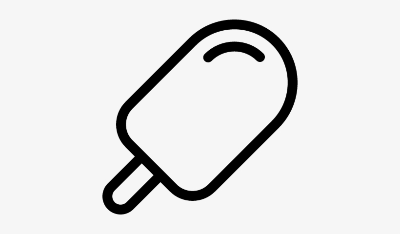 Popsicle Ice Cream Vector - Popsicle Cartoon Black And ...
