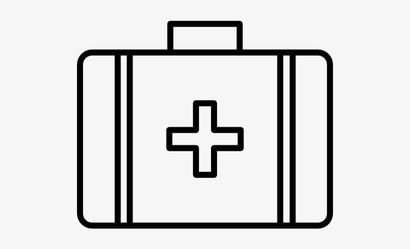 First Aid Kit Clipart Black And White, transparent png #912449