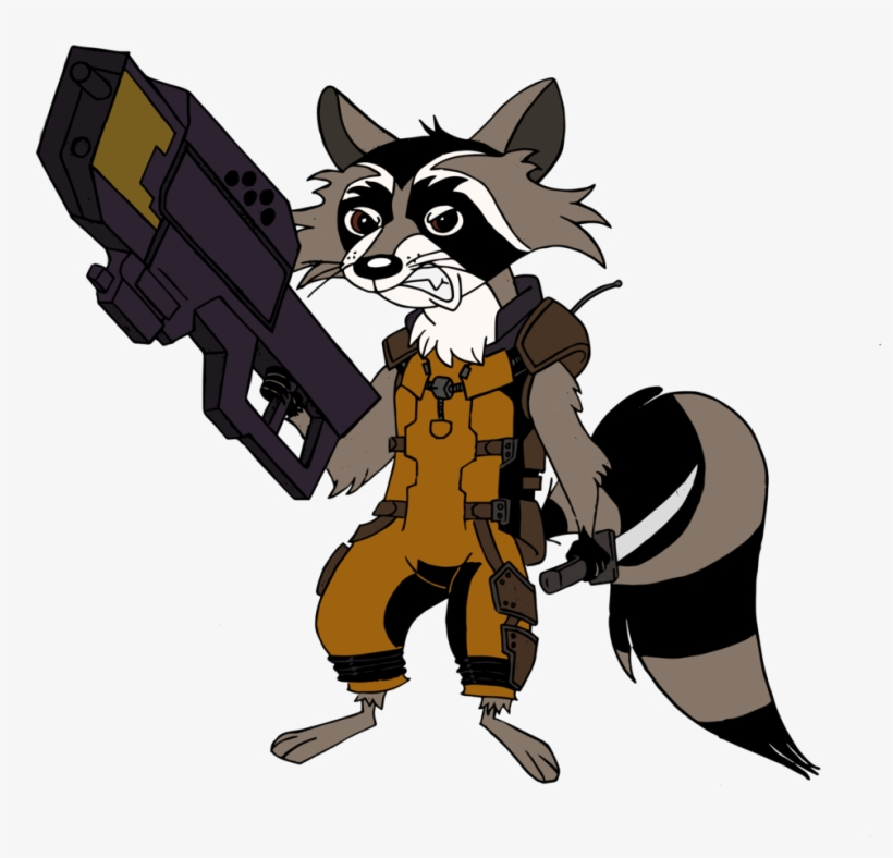 Drawn Raccoon Mlp - Rocket Raccoon Mlp, transparent png #913480