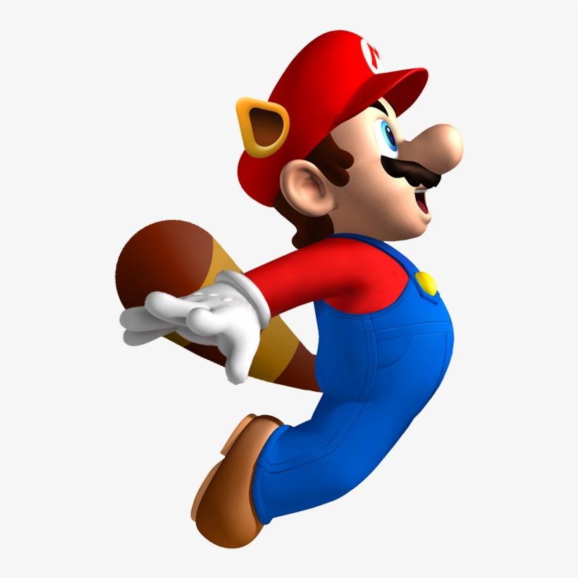 Raccoonmario - New Super Mario Bros Raccoon Mario, transparent png #913697