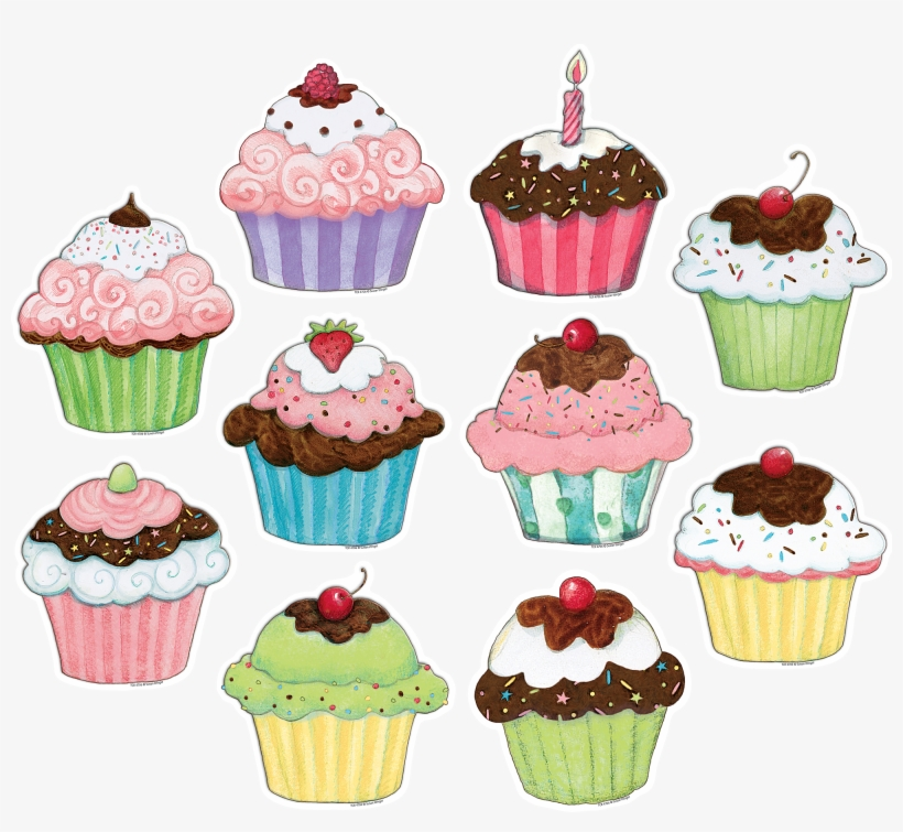 Cupcake Clipart Food Truck - Cupcakes For Bulletin Boards, transparent png #914958