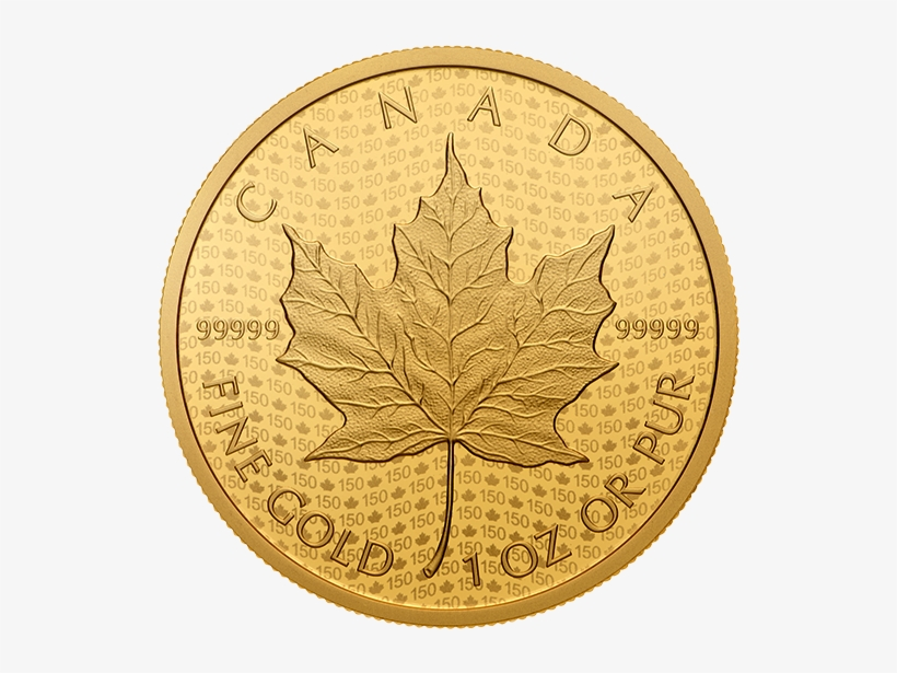 Picture Of Canadian Maple Leaf Neue Limitierte 2017 - Mexican 1 Ounce Gold Coin, transparent png #915656