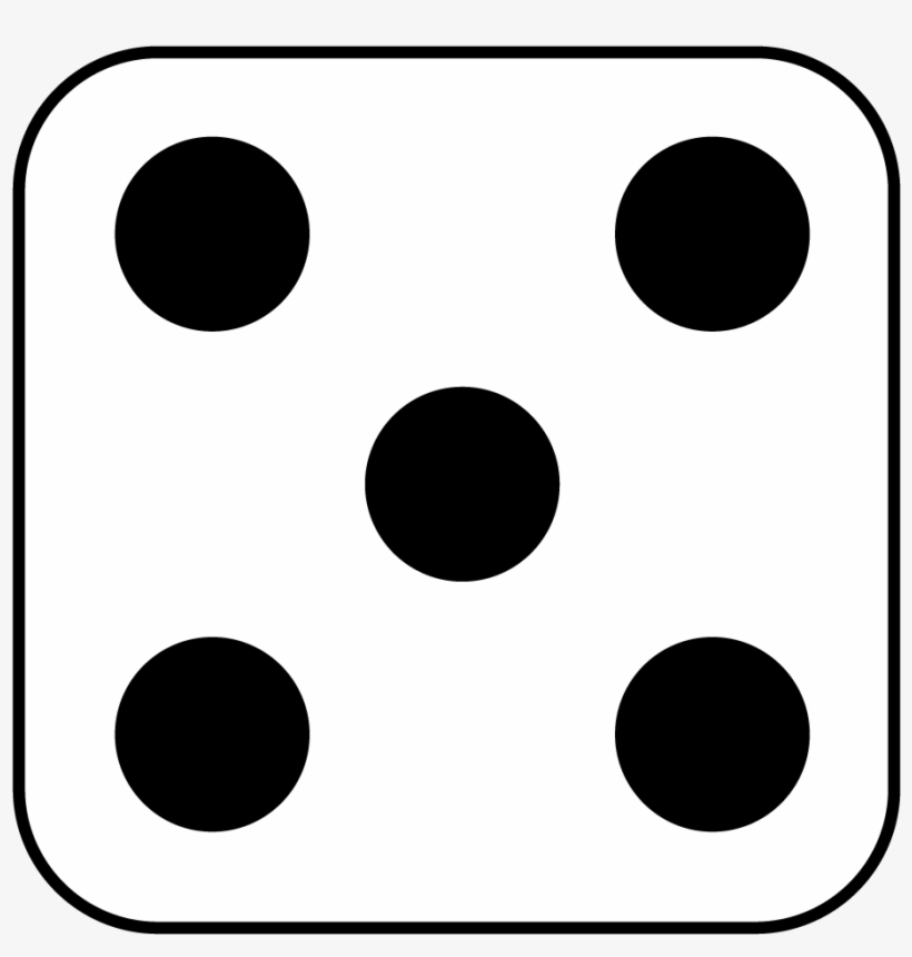 Dots Clipart Five - Five Side Of Dice, transparent png #917449