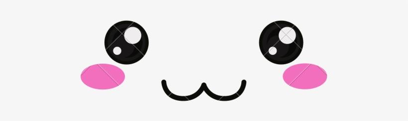 Kawaii Face Png Clip Art Stock - Kawaii Happy Face Png, transparent png #918553