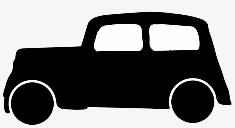 Car Silhouette - - Vintage Car Silhouette Png, transparent png #919022