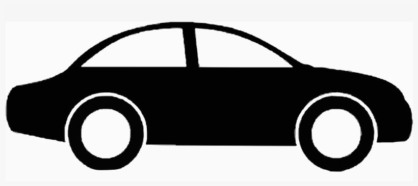 Car side view. Silhouette vehicle free vector