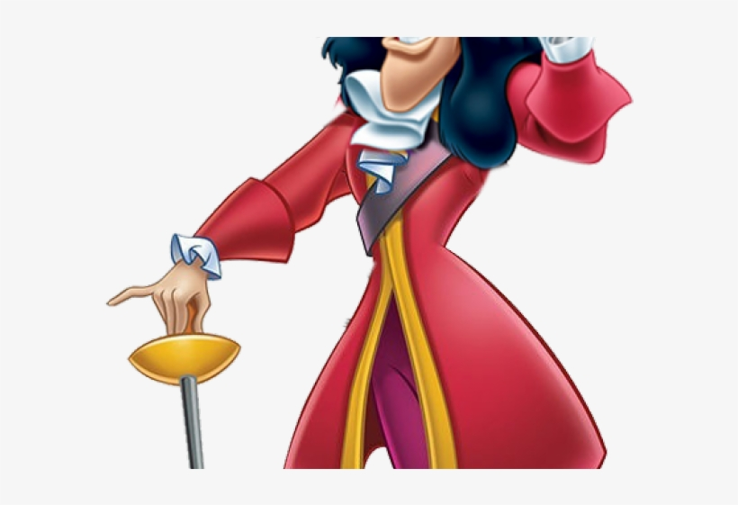 Hook Clipart Captain Hook - Disney Villains Peter Pan, transparent png #9103446